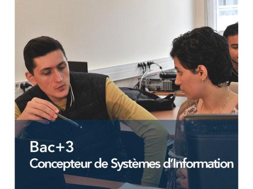 Bac+3 Concepteur de Systèmes d'Information