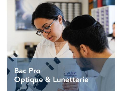 Bac Pro Optique Lunetterie