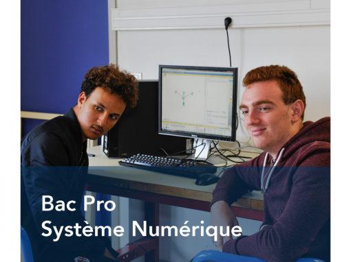 Bac Pro Systèmes Numériques