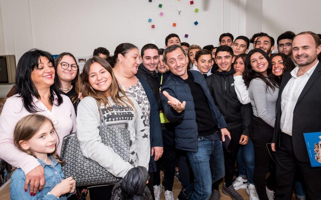 GAD ELMALEH ouvre la Campagne nationale de la TSEDAKA 2018 au Lycée ORT Daniel Mayer de Montreuil